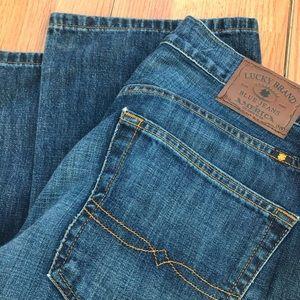Lucky brand 221 original boot blue jeans.
